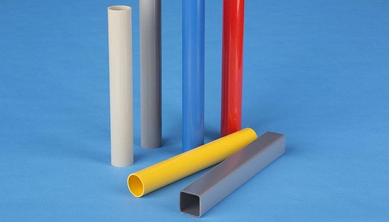Plastic Extrusion: PVC tubes of various colors